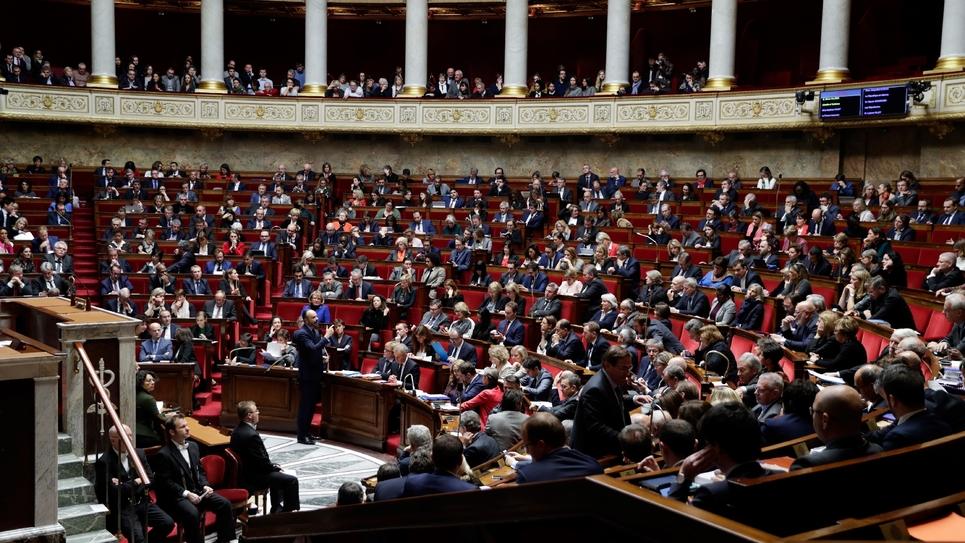 L'hémicycle de l'Assemblée nationale, le 11 décembre 2018
