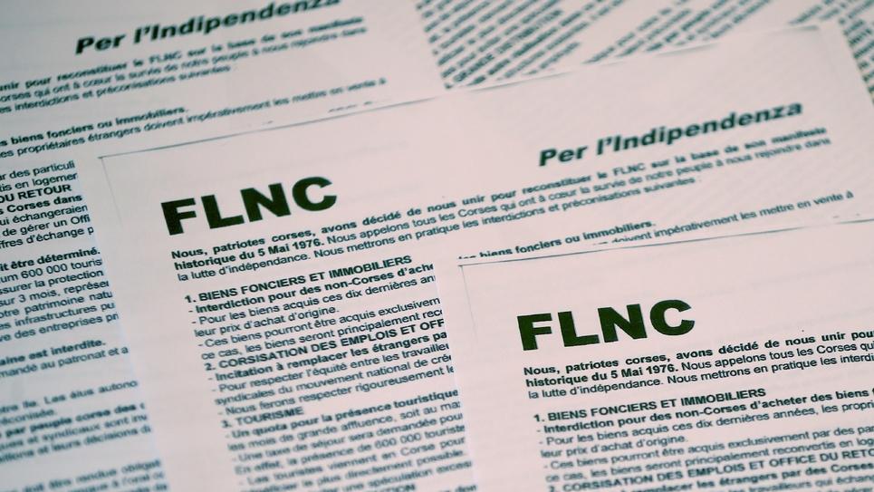 """Le communiqué du FLNC """"reconstitué"""" distribué le 1er octobre 2019 lors de la conférence de presse clandestine du groupe"""