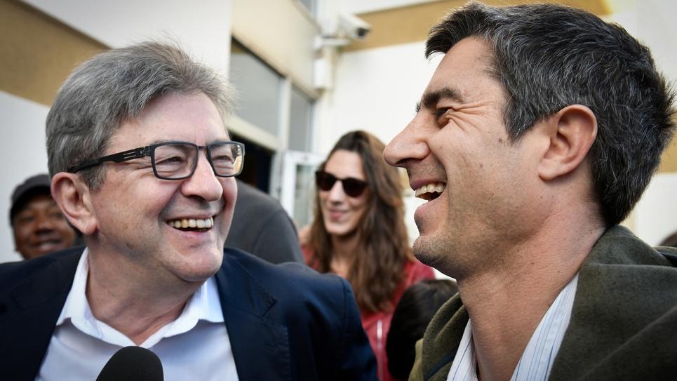 Jean-Luc Mélenchon et François Ruffin à Marseille le 2 mars 2019
