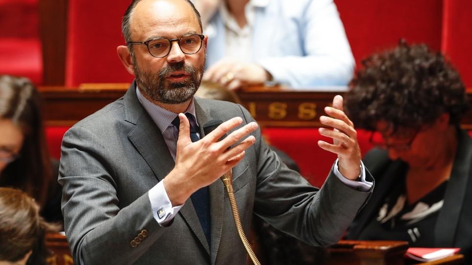 Le Premier ministre Edouard Philippe lors d'une séance de questions au gouvernement à l'Assemblée nationale le 29 mai 2019