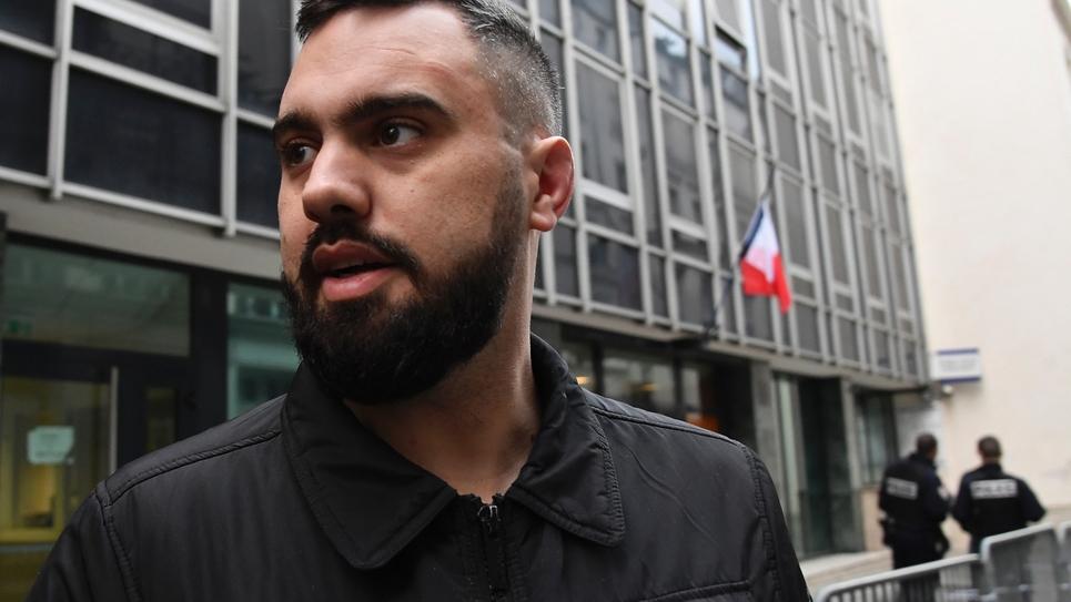 Eric Drouet à sa sortie de garde à vue à Paris, le 3 janvier 2019