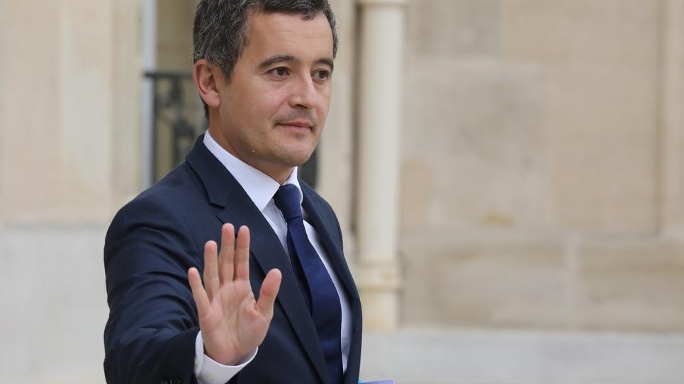 Le ministre de l'Action et des Comptes publics Gérald Darmanin à la sortie du conseil des ministres, le 3 octobre 2018 à Paris