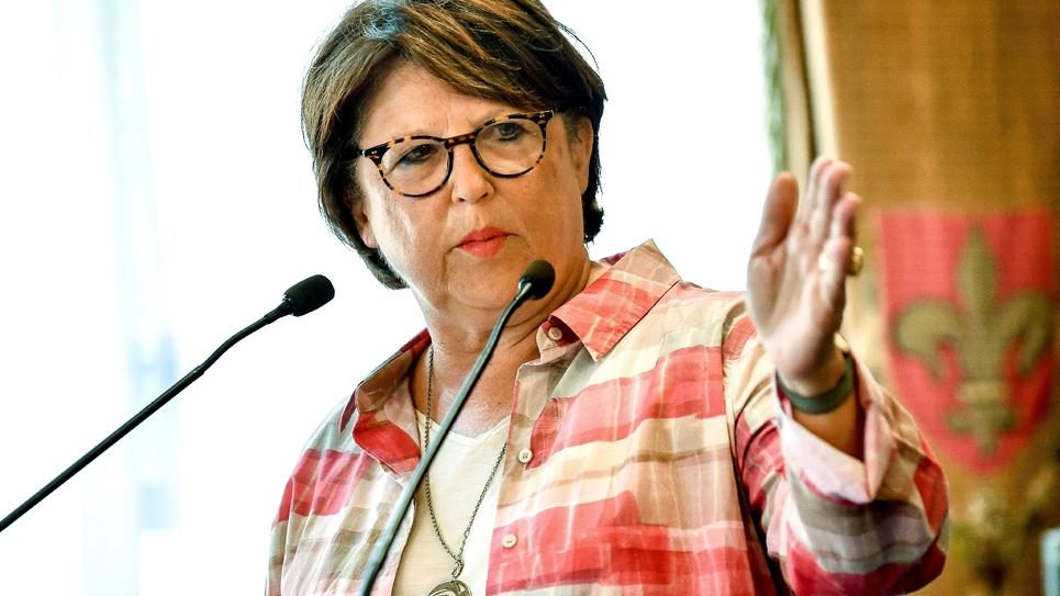 La maire PS de Lille Martine Aubry, le 3 août 2018 dans sa mairie