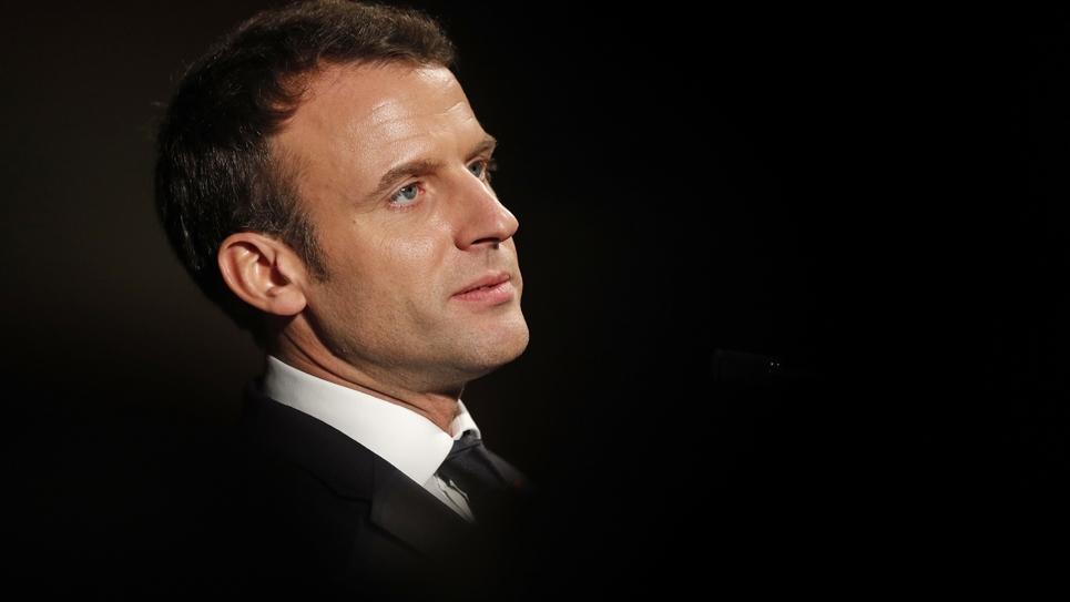 Le président français Emmanuel Macron à Londres le 18 janvier 2018