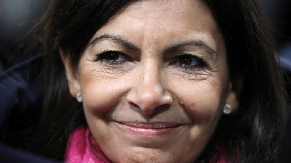 La maire PS de Paris Anne Hidalgo à Seine-Denis, dans la banlieue parisienne, le 27 février 2018
