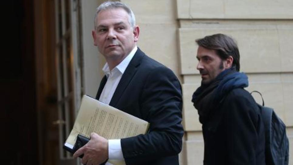 Thierry Lepaon (CGT) à son arrivée le 29 janvier 2014 à Matignon à Paris