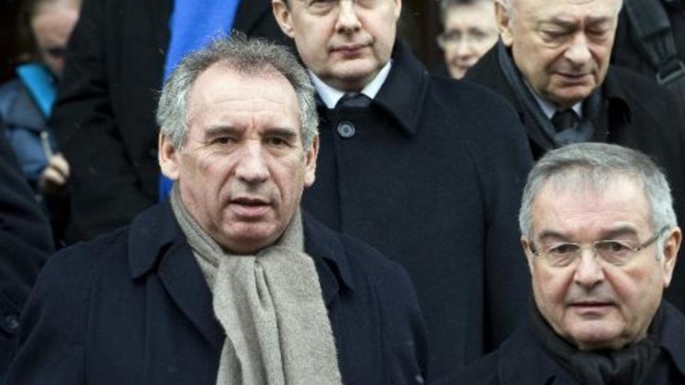 Le président du Modem et maire de Pau, Francois Bayrou, le 9 décembre 2014 à Yssingeaux en Haute-Loire