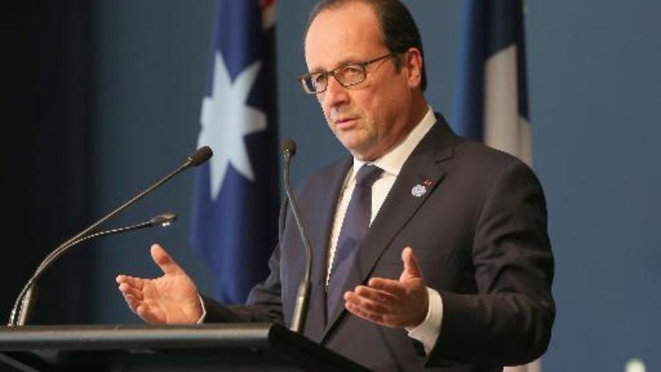 Le président François Hollande, le 19 novembre 2014 à  Canberra