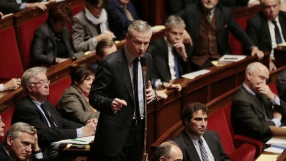 Bruno Le Maire, le 3 mars 2015 à l'Assemblée nationale