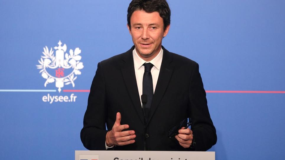 Le porte-parole du gouvernement Benjamin Griveaux après le Conseil des ministres du 25 juillet 2018 à l'Elysée à Paris