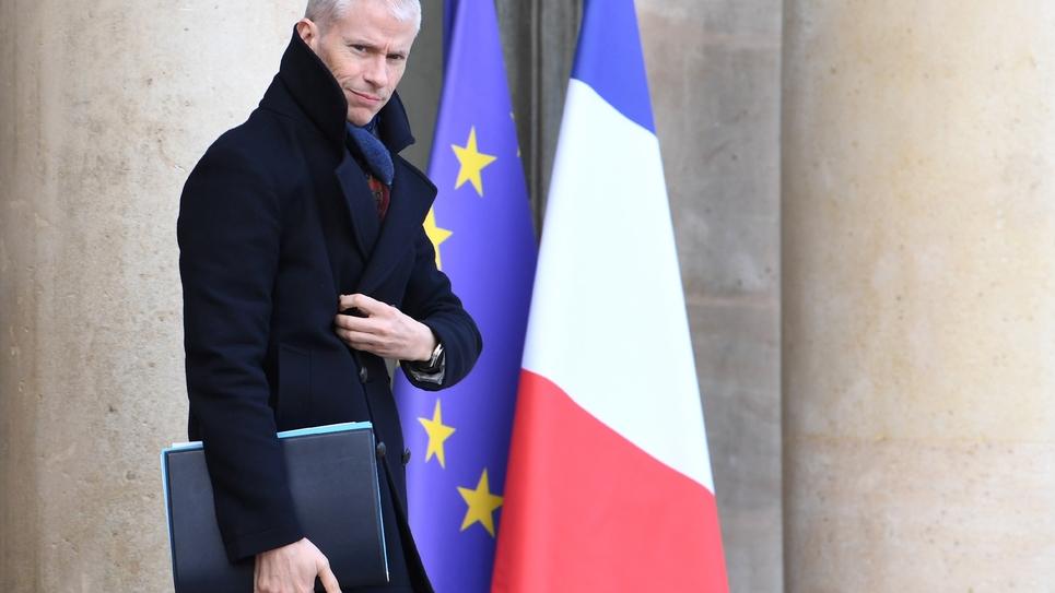Le ministre de la Culture Franck Riester à l'Elysée à Paris le 12 février 2020