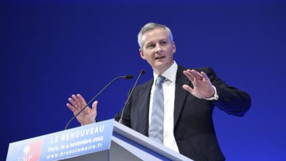 Bruno Le Maire, candidat à la présidence de l'UMP, lors d'un meeting à Paris, le 4 novembre 2014