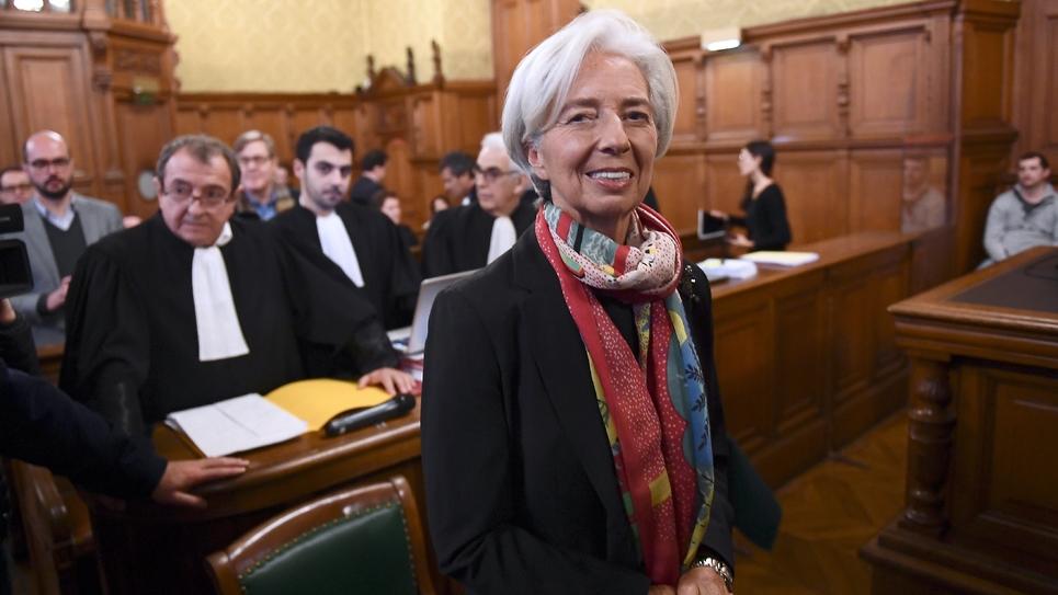 Christine Lagarde le 12 décembre 2016, avant son audience de la Cour de Justice de la République, à Paris