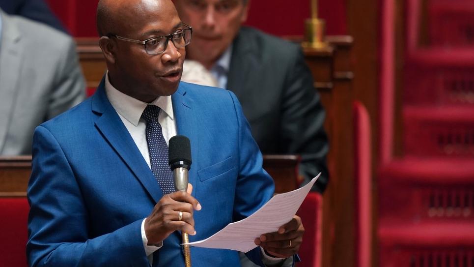 Le député de Guyane Gabriel Serville à l'Assemblée nationale, à Paris le 19 juin 2019
