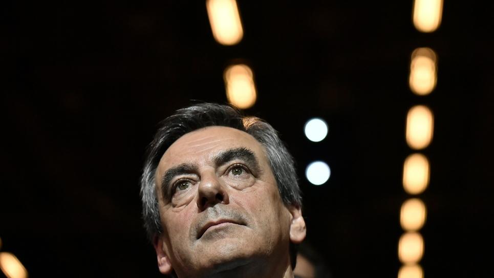 Francois Fillon lors d'un meeting à Paris, le 25 novembre 2016