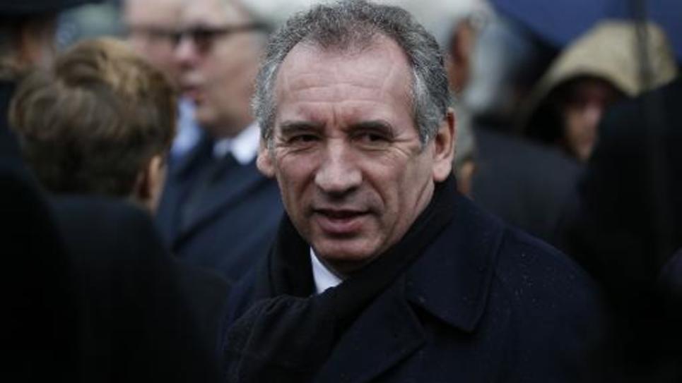 François Bayrou à l'enterrement de Jacques Barrot à Paris le 8 décembre 2014