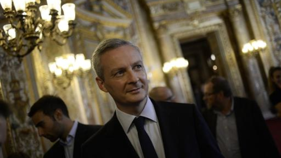 L'UMP Bruno Le Maire à Paris le 28 septembre 2014