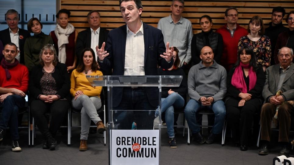 Le maire écologiste de Grenoble Éric Piolle, candidat à sa réélection, le 18 février 2020 à Grenoble