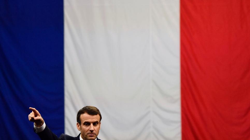 Emmanuel Macron le 7 mars 2019 lors d'une réunion du grand débat à Gréoux-les-bains