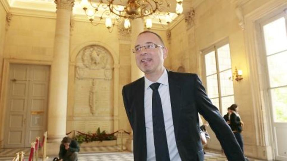 Le député PS Yann Galut, le 29 avril 2014 à l'Assemblée nationale à Paris