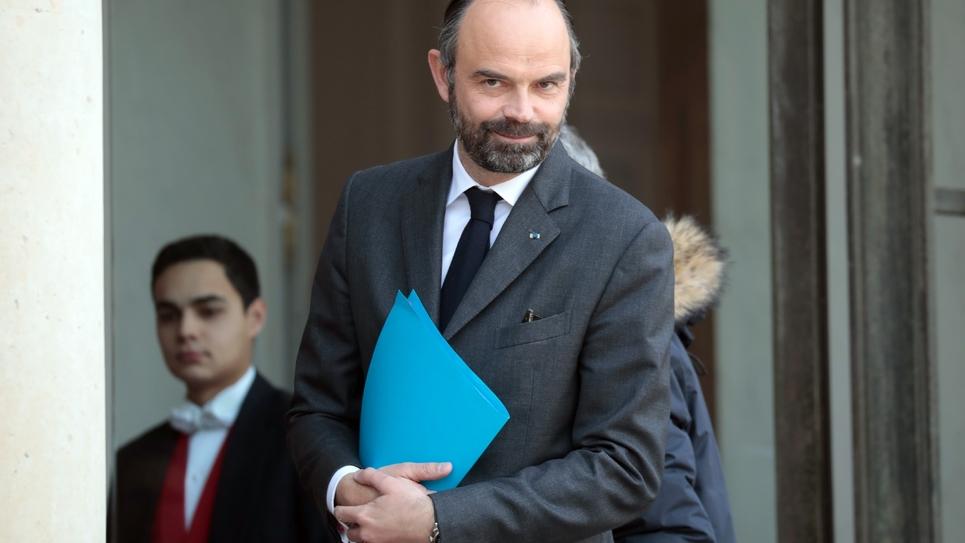 Le Premier ministre Edouard Philippe à l'Elysée, le 21 février 2019