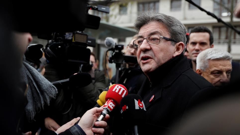 Jean-Luc Mélenchon, le 10 décembre 2016 à Paris