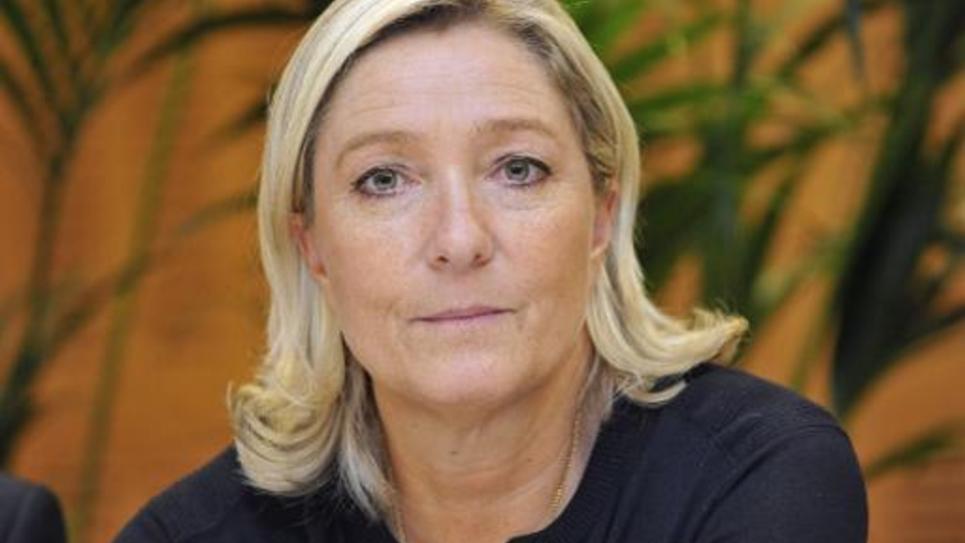 La présidente du FN, Marine Le Pen, le 2 octobre 2014 à Clermont-Ferrand