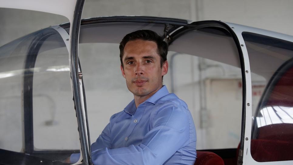 Le député LREM de la Haute-Vienne, Jean-Baptiste Djebbari à Saint-Junien, le 13 juin 2017