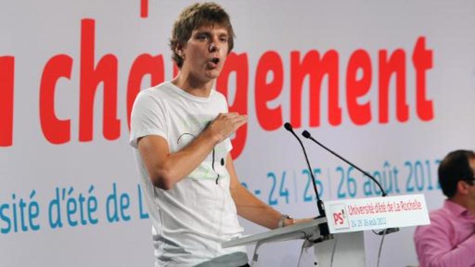 Le président des jeunes socialistes (MJS), Thierry Marchal-Becq, le 26 août 2012 à La Rochelle