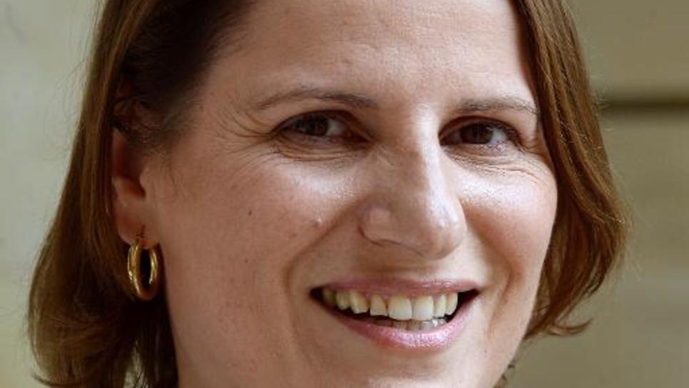La rapporteure générale du Budget à l'Assemblée Valérie Rabault à Paris, le 30 avril 2014