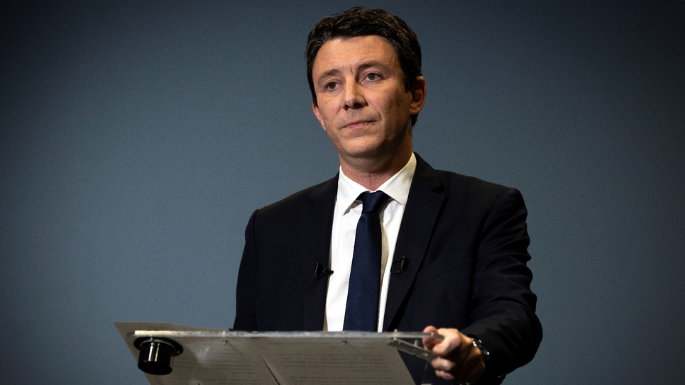 Benjamin Griveaux annonçant son retrait le 14 février 2020