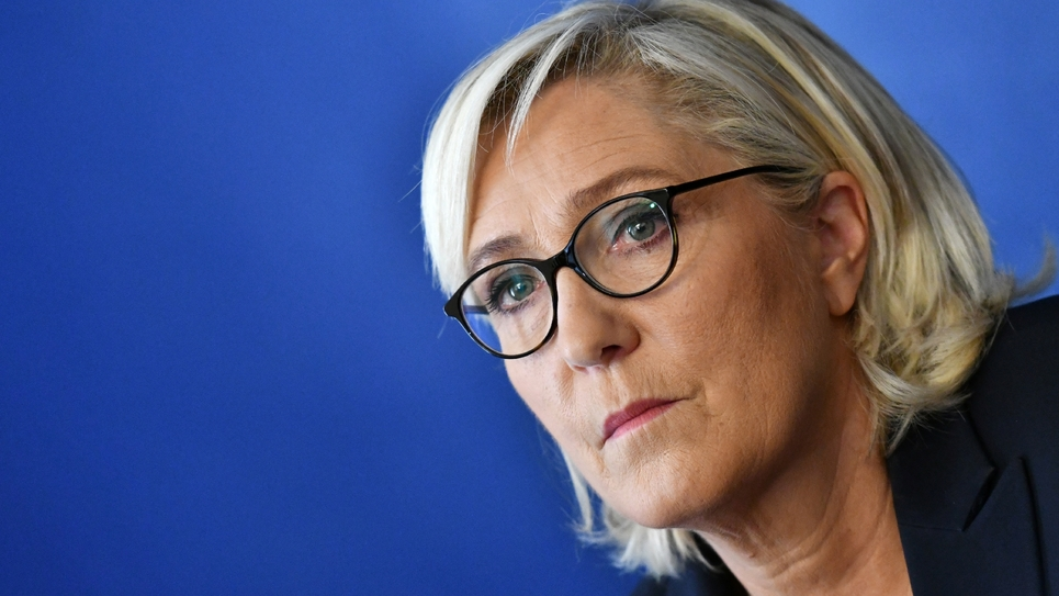 Marine Le Pen, présidente du Rassemblement National, à Rome, le 08 octobre 2018