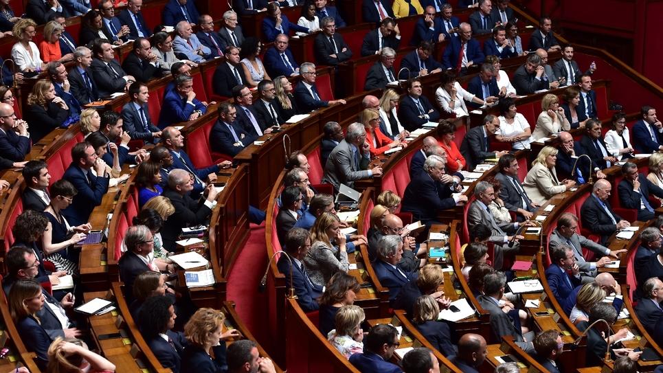 Les députés réunis à l'Assemblée nationale, le 4 juillet 2017