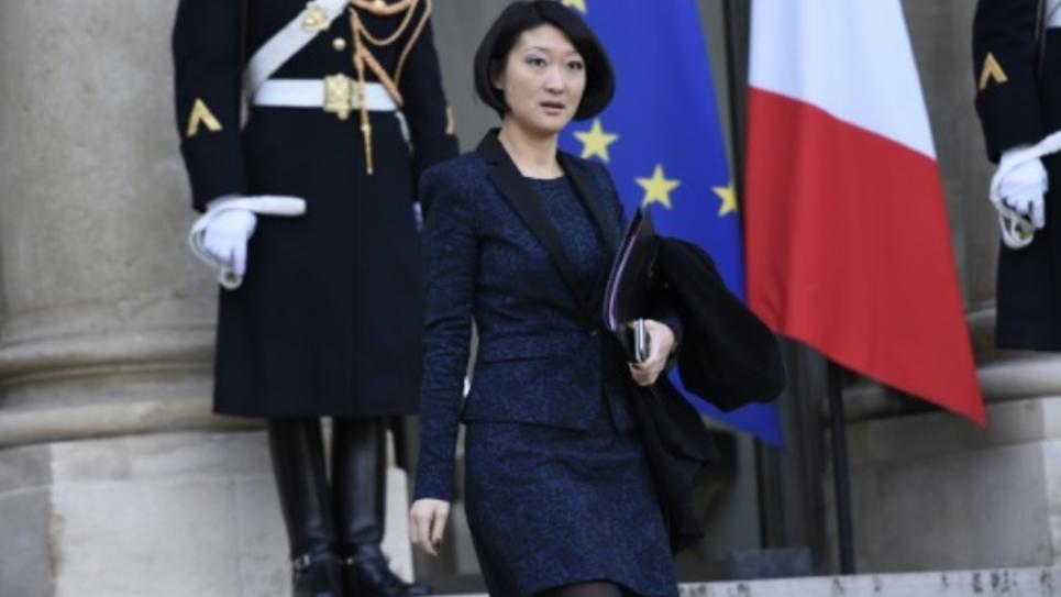 La ministre de la Culture Fleur Pellerin à la sortie du Conseil des ministres le 4 janvier 2016 à Paris