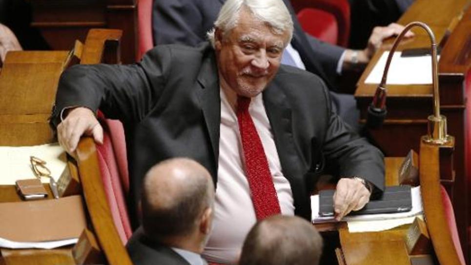 Le député UMP Claude Goasguen à l'assemblée à Paris le 17 septembre 2014