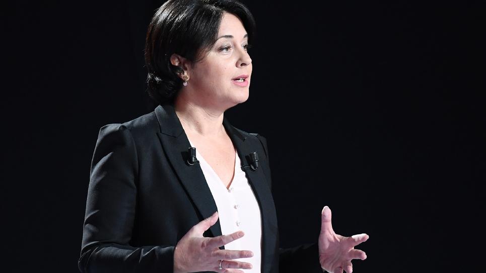Sylvia Pinel, alors présidente du Parti radical de gauche (PRG), lors d'un débat télévisé le 15 janvier 2017