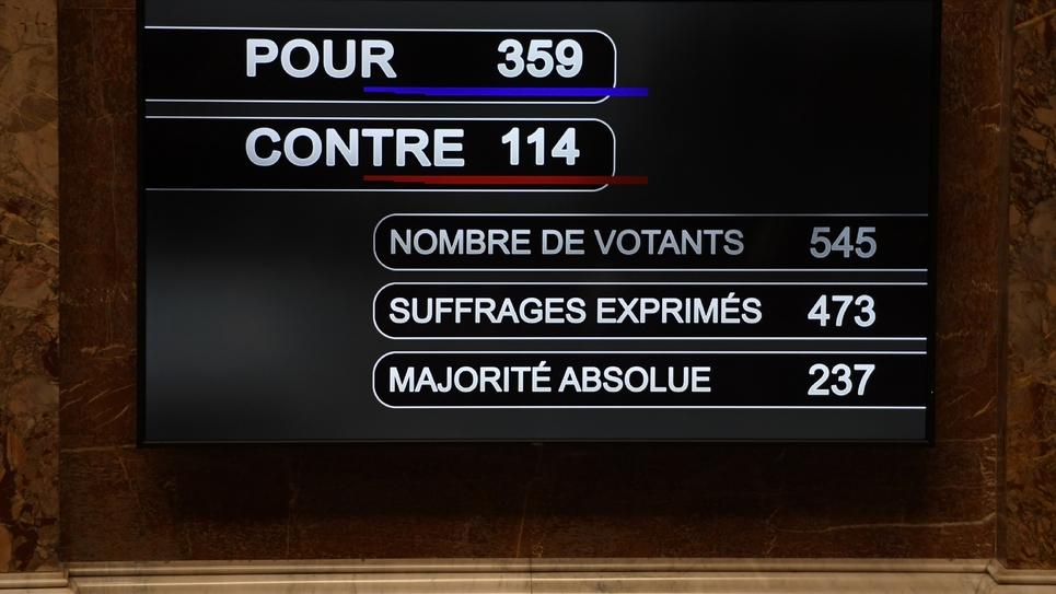Les résultats du vote sur la PMA, le 15 octobre 2019 à l'Assemblée nationale