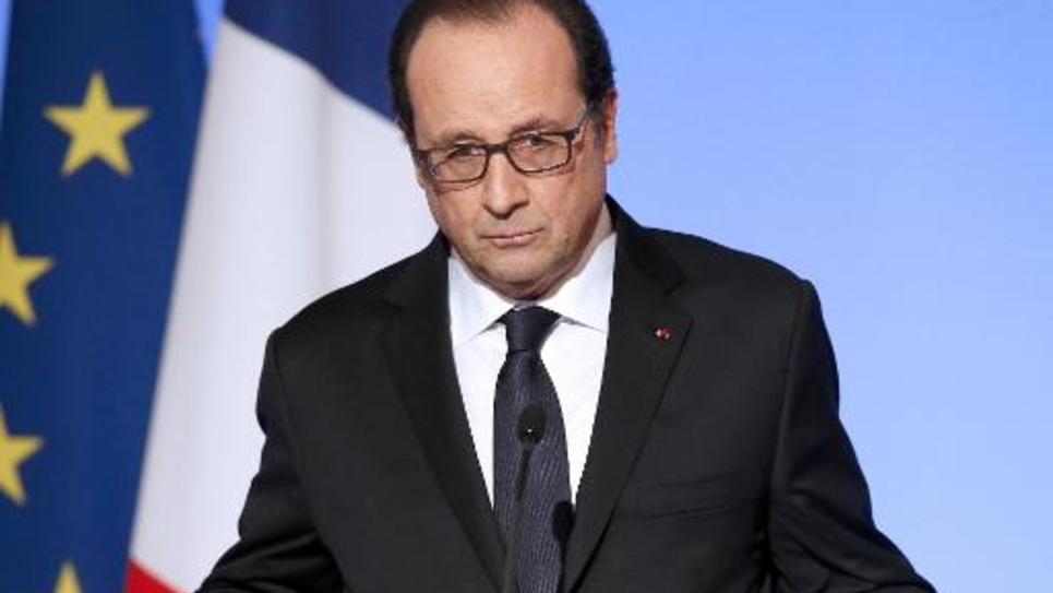 Le président de François Hollande le 27 novembre 2014 au Palais de l'Elysée