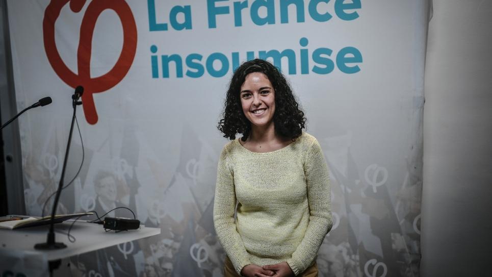 La tête de liste de La France insoumise aux Européennes Manon Aubry pose à Paris, le 14 janvier 2019