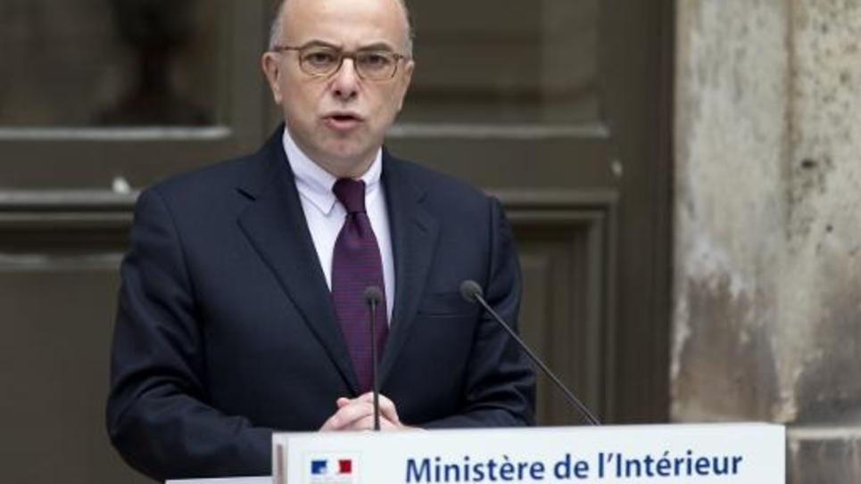 Le ministre de l'Intérieur Bernard Cazeneuve s'exprime lors d'une conférence de presse le 16 janvier 2015 à Paris