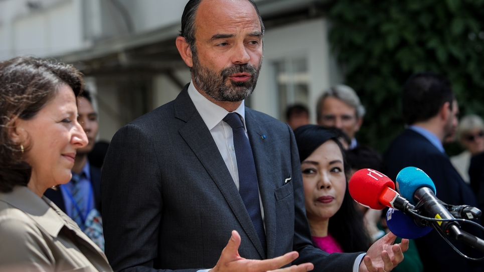 Le Premier Ministre Edouard Philippe à Ho Chi Minh-Ville, au Vietnam, le 4 novembre 2018