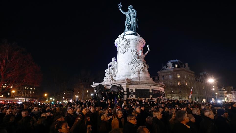 Rassemblement contre l'antisémitisme place de la République, le 19 février 2019 à Paris