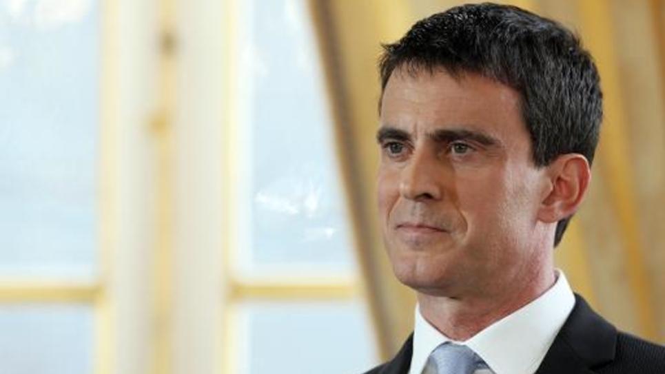 Le Premier ministre Manuel Valls lors des voeux à la presse le 20 janvier 2015 à Paris