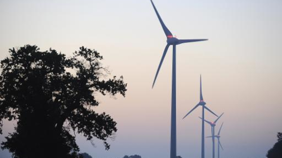 Un parc d'éoliennes dans l'ouest de la France, le 11 septembre 2011 à Freigné