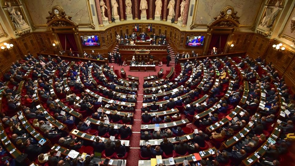 L'hémicyle du Sénat à Paris, le 2 octobre 2017