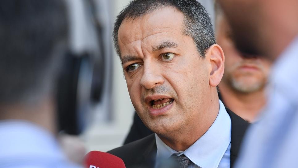 Le nouveau secrétaire général de Force Ouvrière, Pascal Pavageau, à Matignon à Paris, le 7 mai 2018