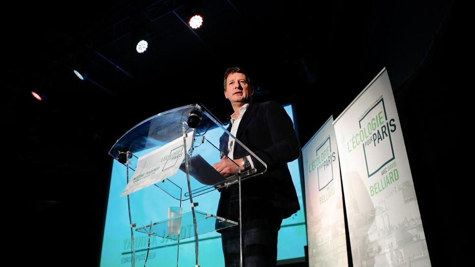 Le chef de file d'EELV Yannick Jadot, le 5 février 2020 à Paris
