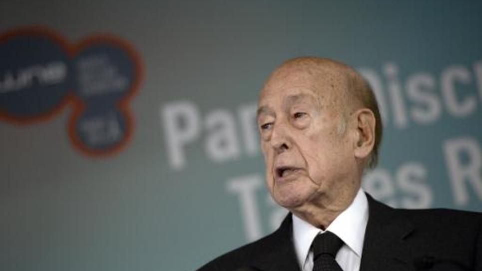 L'ex-président Valéry Giscard d'Estaing, le 14 octobre 2014 au Bourget