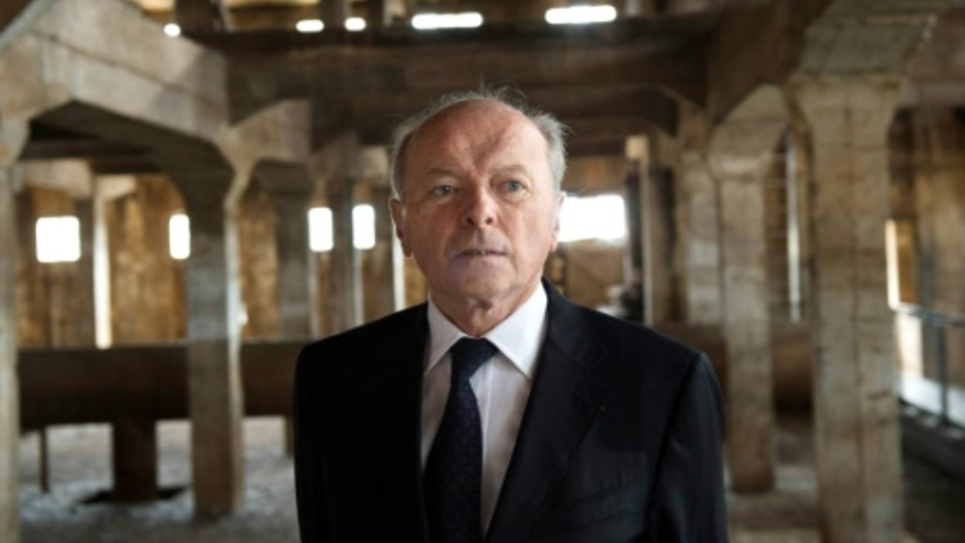 Le Défenseur des droits Jacques Toubon le 23 octobre 2014 au Camp de Milles à Aix-en-Provence