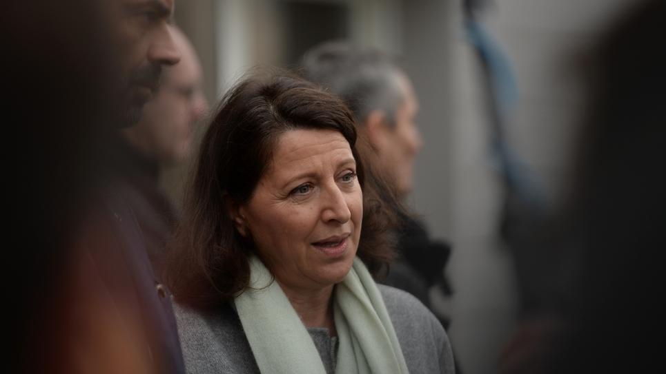 Agnès Buzyn au côté d'Edouard Philippe, le 11 février 2019 dans un centre de santé à Avoine, près de Tours